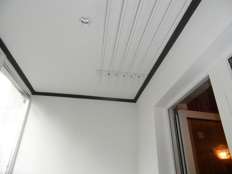 Отделка на лоджии потолка гипсокартоном