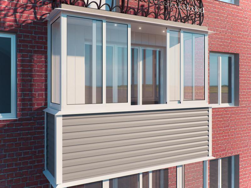Отделка балконов и лоджий сайдингом в Москве и Мо