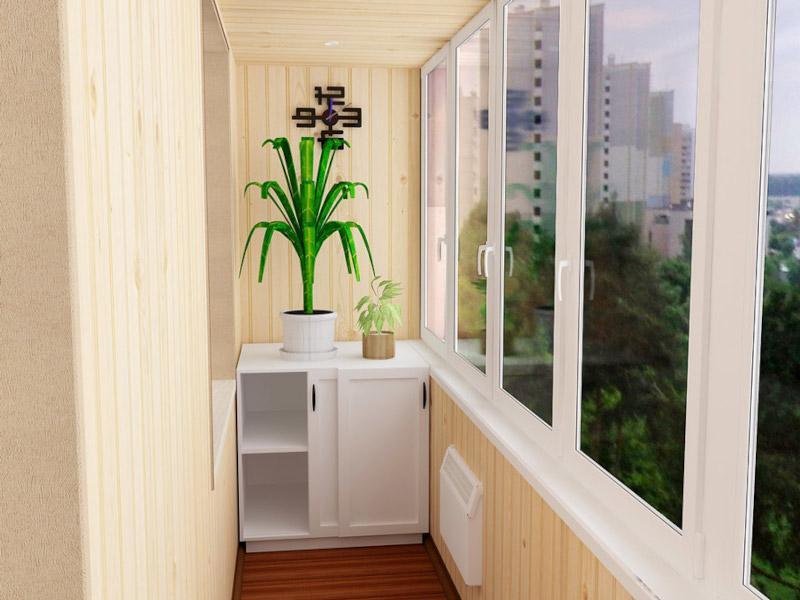 Производство и монтаж встроенной тумбочки на лоджию и балкон в Москве и Московской области