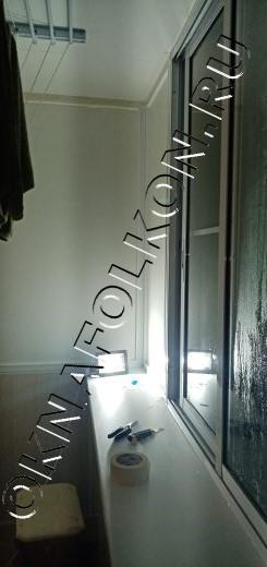 Алюминиевое остекление балконов с отделкой