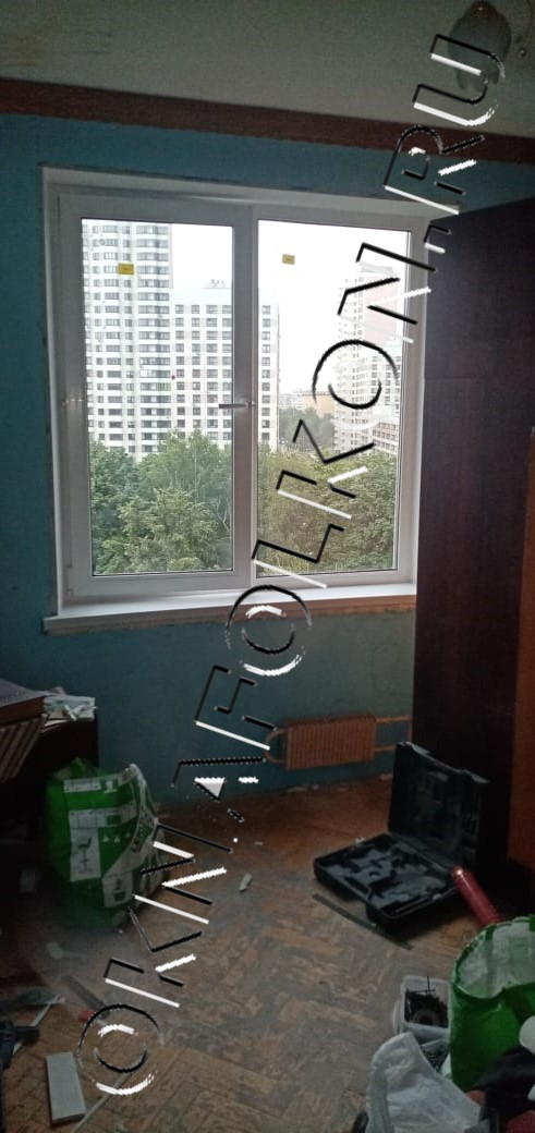 Двухстворчатое окно ПВХ в Москве