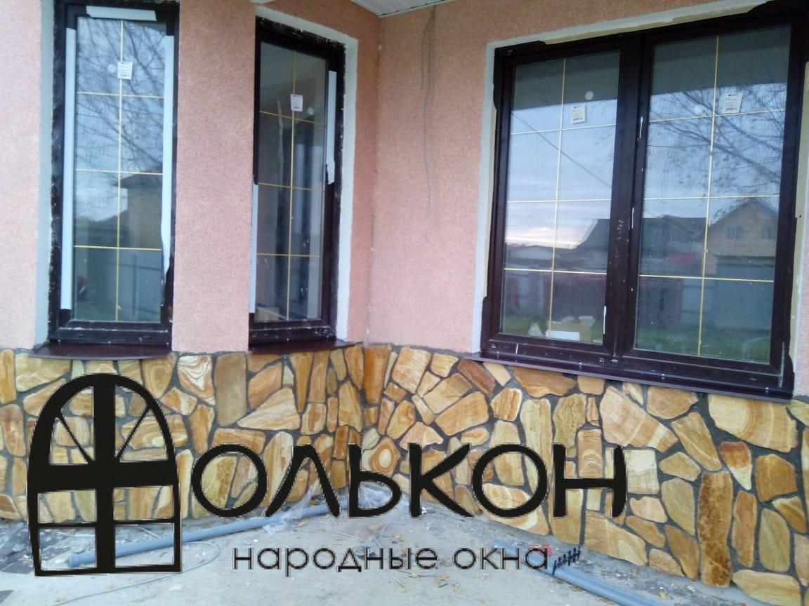 Ламинированные окна ПВХ в загородный коттедж