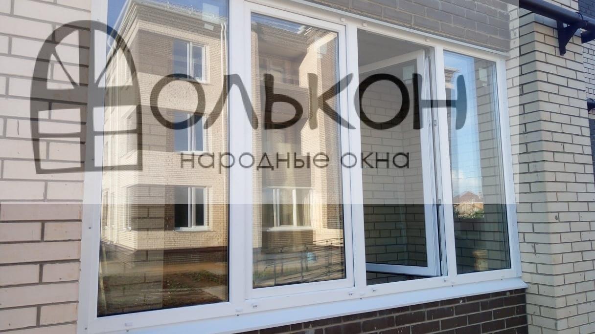 Остекление лоджии окнами ПВХ