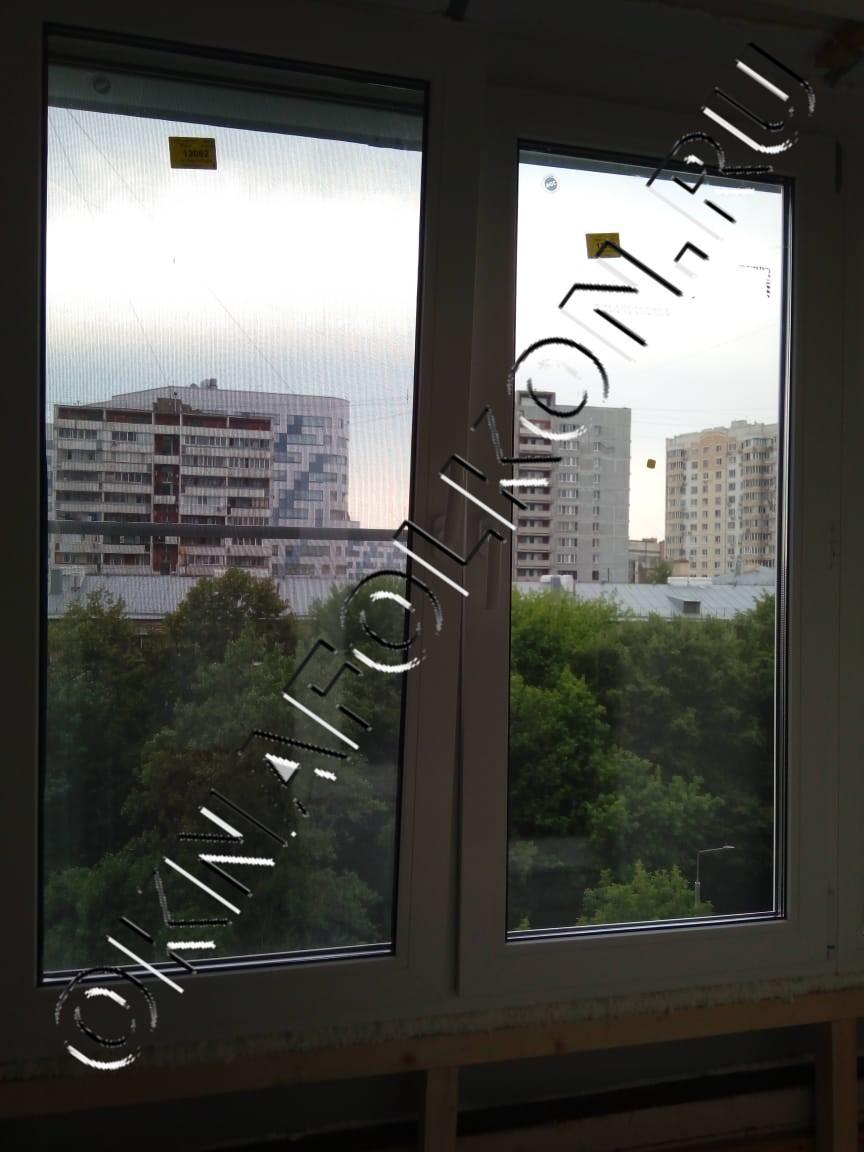 Окна ПВХ с отделкой парапета на лоджии в Москве