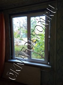 Окна с двумя створками