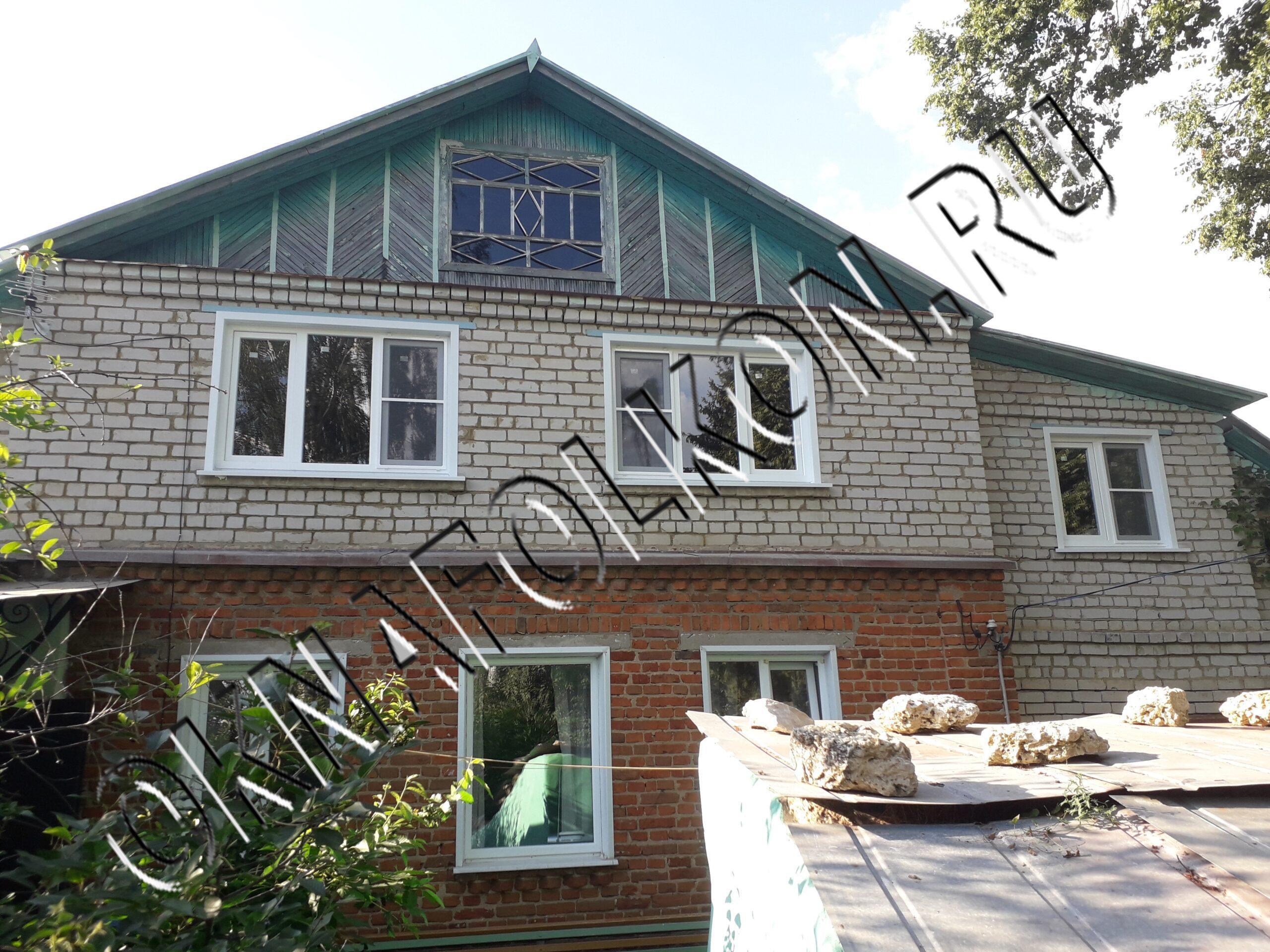 Остекление загородного дома окнами ПВХ