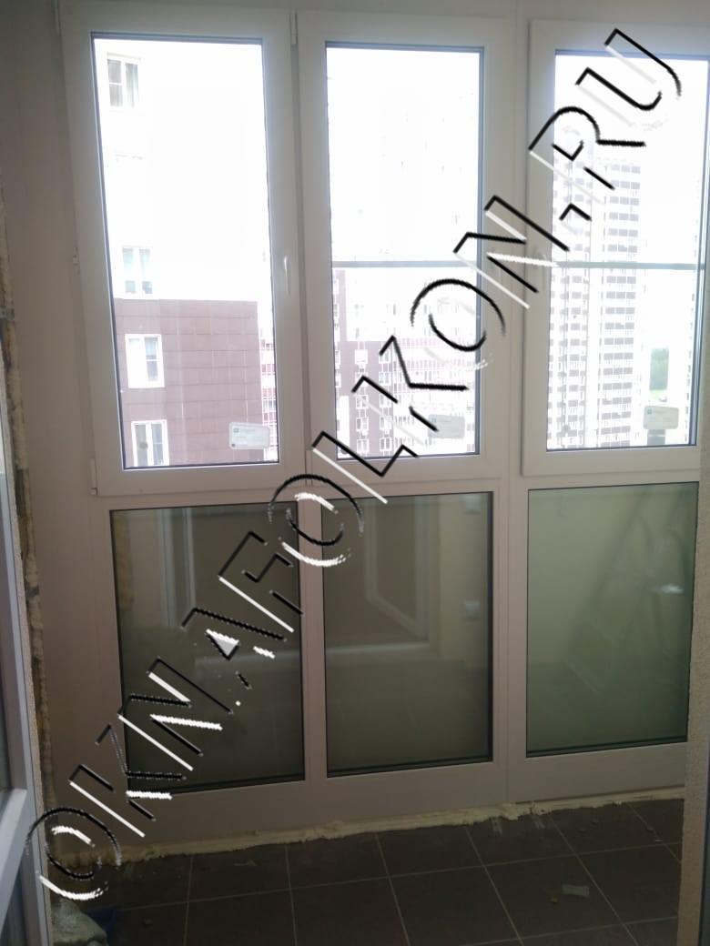 Остекление лоджии окнами ПВХ от пола до потолка