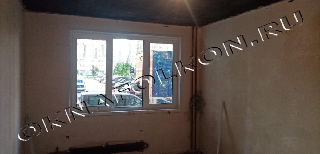 Трёхстворчатое окно ПВХ в Москве