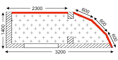 Схема лоджий в домах в П-111М