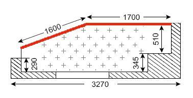 Схема лоджии в типах домов П-44Т