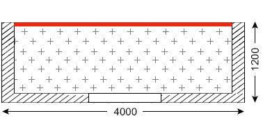 Схема лоджии в домах тип П-46М