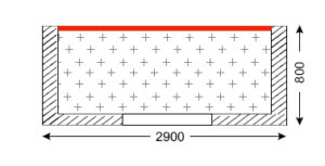 Схема лоджии в домах типа II-57