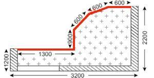 Схема лоджии в домах серии ГМС-3